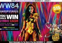 Big Bang Theory Wonder Woman Sweepstakes 2020
