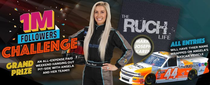 NASCAR Angela Ruch One Million Followers Challenge