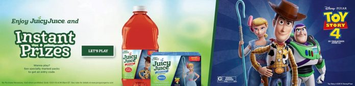 Juicy Juice Toy Story 4 Instant Win Game