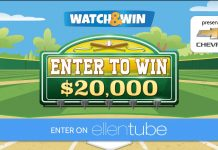 Ellen Chevy Watch & Win Contest