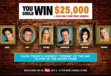 Friends 25 Sweepstakes Code Word Of The Day