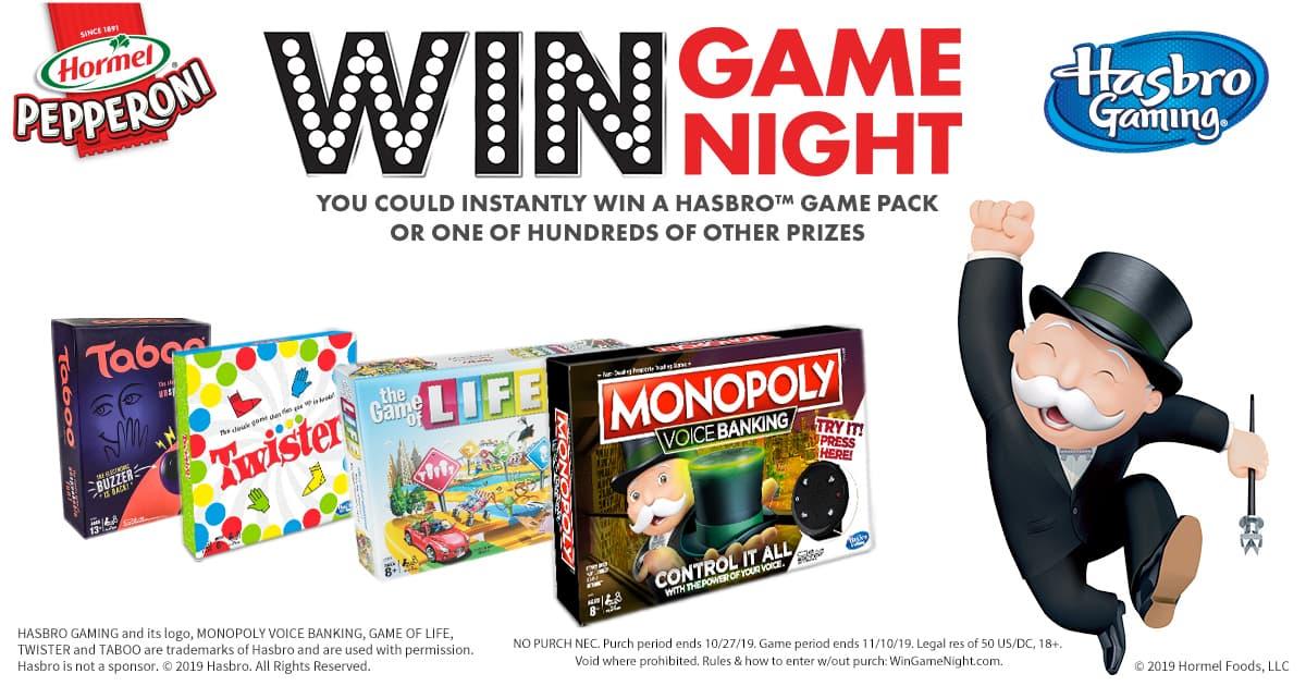 HORMEL Pepperoni Win Game Night Instant Win Game (WinGameNight.com)