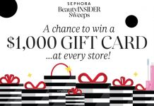 Sephora Beauty Insider Sweepstakes
