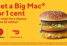 DoorDash $1 Million Sweepstakes at McDonald's