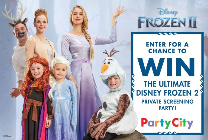 Party City Frozen 2 Sweepstakes