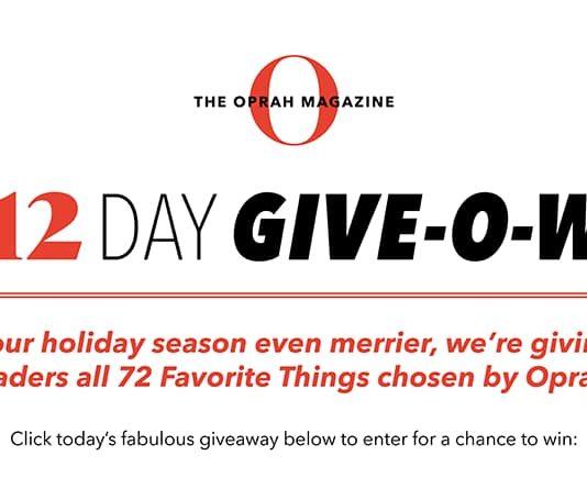 Oprah 12 Day Giveaway 2020 (OprahMag.com/12Days-2020)