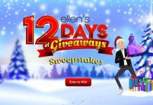 Ellen DeGeneres Shop 12 Days Of Giveaways Sweepstakes 2020