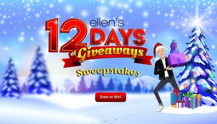 Ellen DeGeneres Shop 12 Days Of Giveaways Sweepstakes 2020