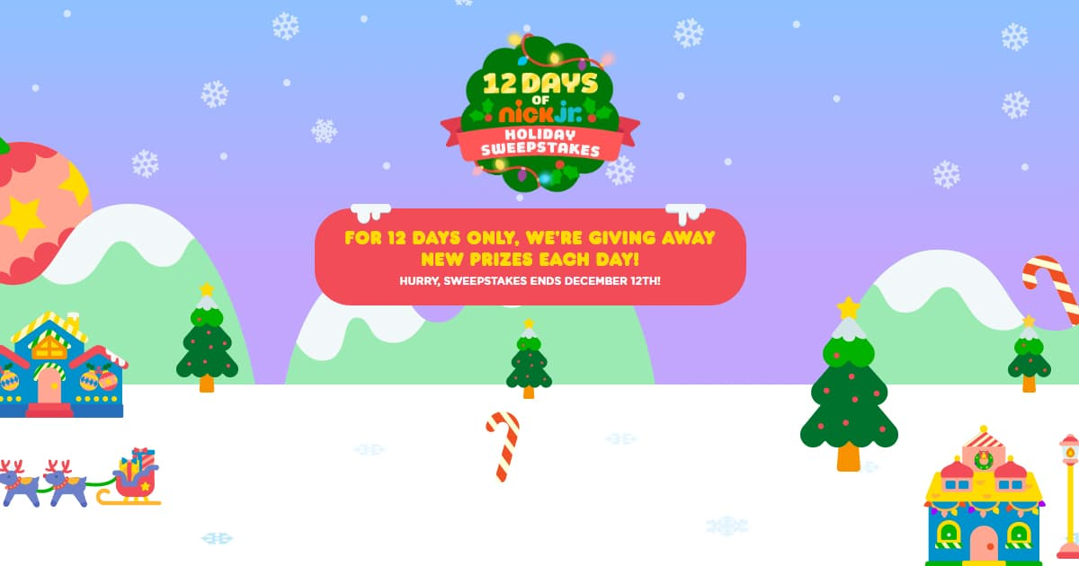 12 Days Of Nick Jr Holiday Sweepstakes 2019