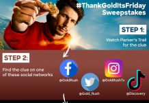Discovery #ThankGoldItsFriday Sweepstakes 2020