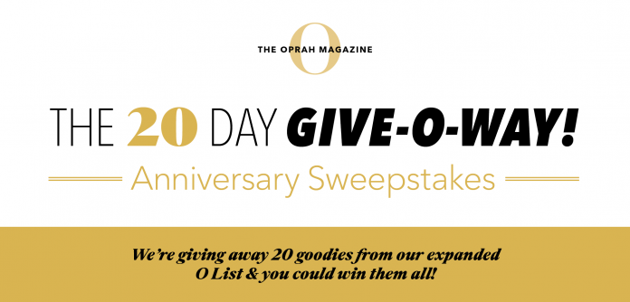 Oprah 20 Days Of Giveaways Sweepstakes 2020