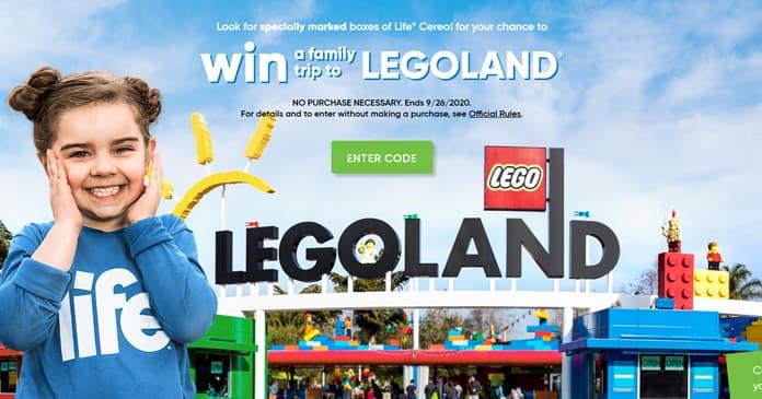 Quaker Life And Legoland Instant Win Game 2020