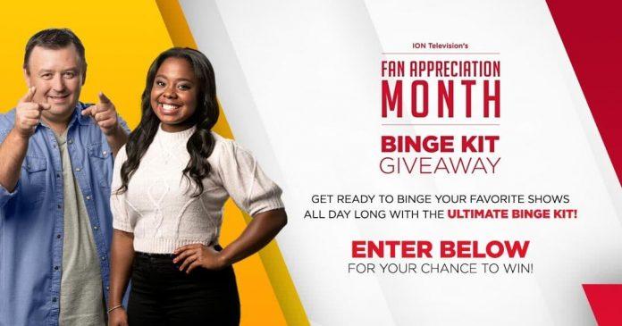 ION Television Fan Appreciation Binge Kit Giveaway 2020