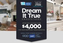 HGTV Dream It True Sweepstakes 2020