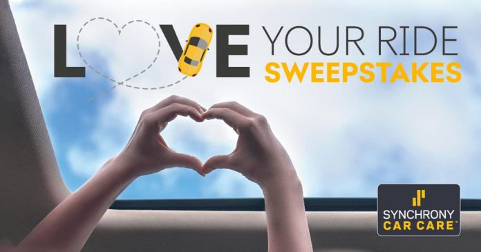 Synchrony Car Care Love Your Ride Sweepstakes 2020