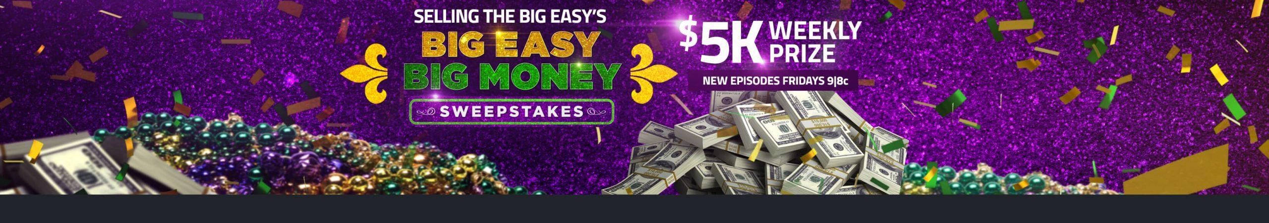 HGTV Big Easy Big Money Sweepstakes 2020