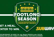 Subway Footlong Season Sweepstakes 2020