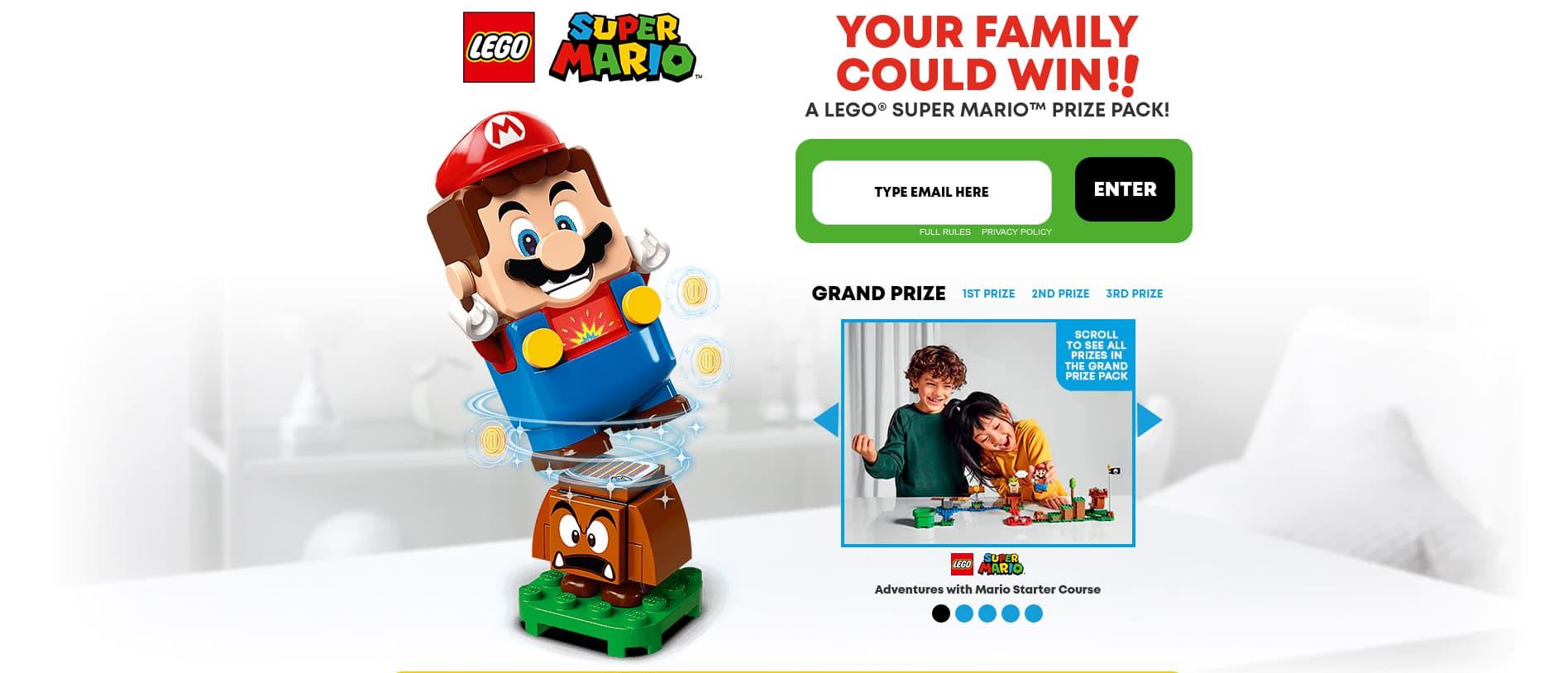 Cartoon Network Lego Super Mario Sweepstakes 2020