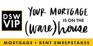 DSW Mortgage Sweepstakes 2020
