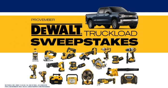 Lowe's For Pros PROvember Sweepstakes 2020