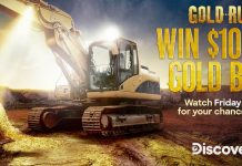 Discovery Channel Gold Rush Friday Gold Giveaway 2020