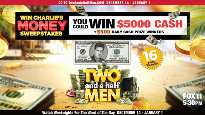 Two And A Half Men Win Charlie's Money Sweepstakes 2020