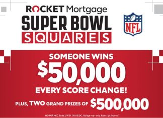 Rocket Mortgage Super Bowl Squares Sweepstakes 2021